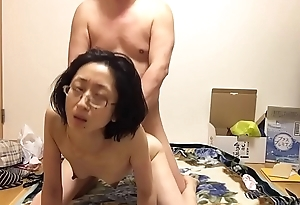 Mature wife Miyuki pants at the chick on top posture