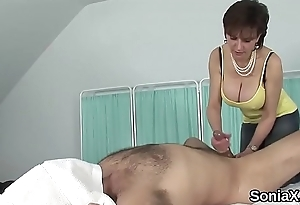 Adulterous english milf lady sonia showcases her huge knockers