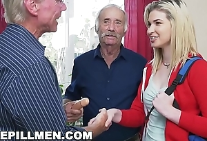 BLUE PILL MEN - Young Stacie Gets Practiced By Three Horny Old Admass