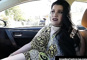 Cuban BBW Angelina Castro Blows A Hard Cock For A Commandeer Home!