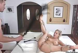 Blonde with hook in ass cunt fucked