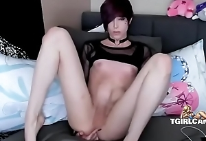 Cute emo tranny fingers ass and cums - tgirlcams.net