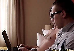 I fucked my nerd stepbrother'_s big cock