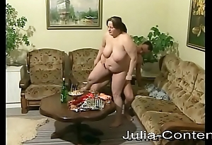 She is fat, housewife and fucks horny.